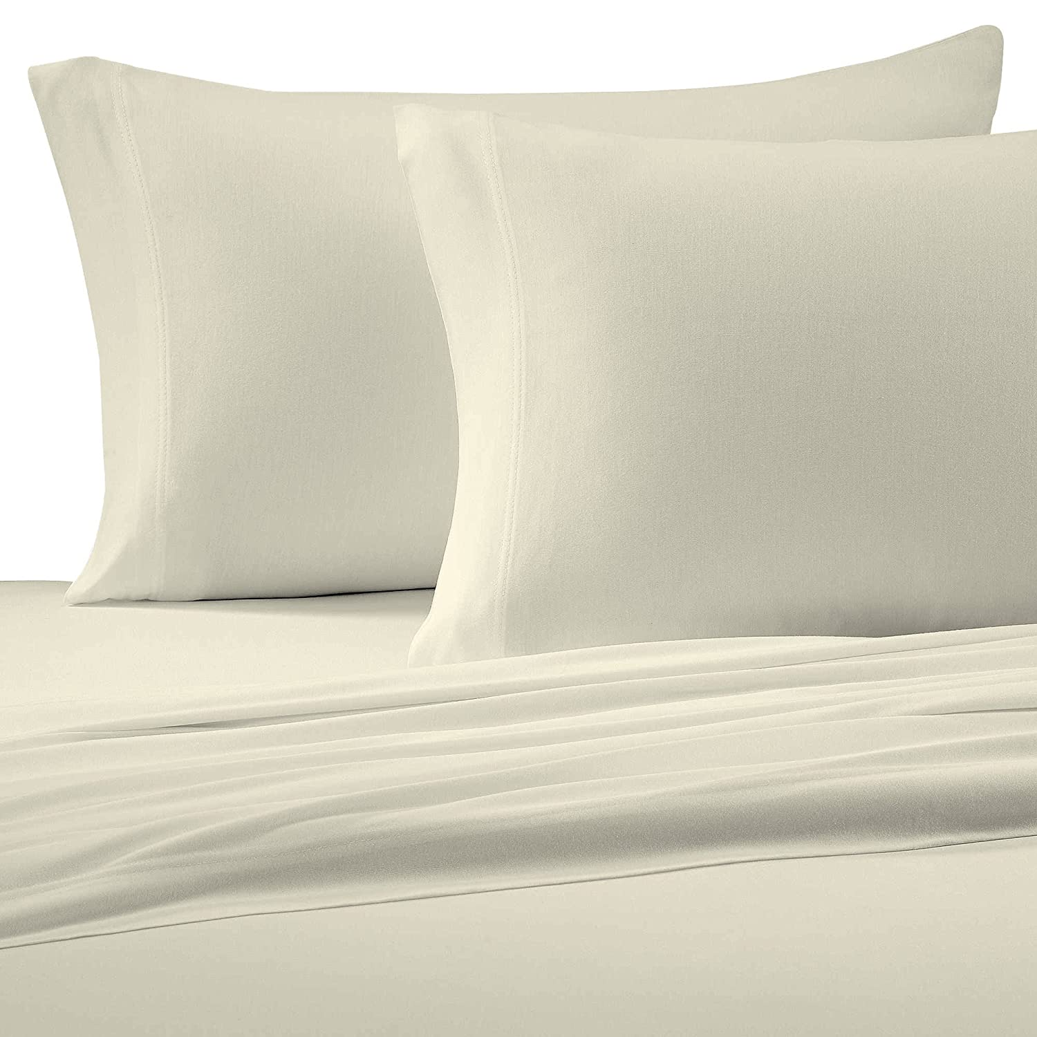 Amazoncom Brielle Cotton Jersey Knit T Shirt Sheet Set King