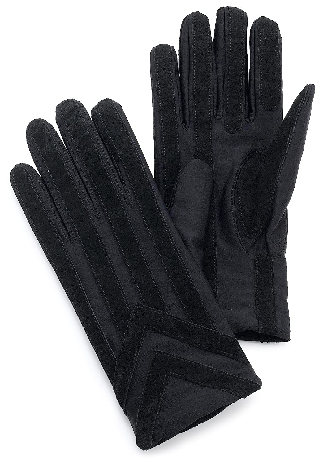 Black gardening gloves - Isotoner Men S Spandex Glove With Suede Palm Strips Brown Medium Large At Amazon Men S Clothing Store Cold Weather Gloves