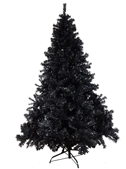 Luxury 6ft 7ft 8ft Black Artificial Xmas Christmas Trees Sale 180