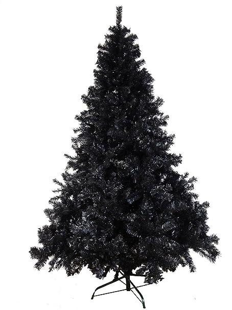 LUXURY 6ft 7ft 8ft Black Artificial Xmas Christmas Trees SALE 180/210cm  Bushy Hinged Trees - LUXURY 6ft 7ft 8ft Black Artificial Xmas Christmas Trees SALE 180