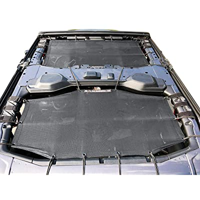 Alien Sunshade Jeep Wrangler Sunshade Jeep JL 4 Door 2-Piece Front & Rear Jeep JL Sunshade Top 2020+ (Black): Automotive
