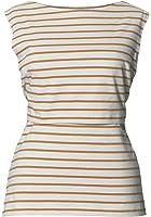 BOOB DESIGN Women's Striped Sleeveless Maternity Vest Top White Black White Stripe - - 6