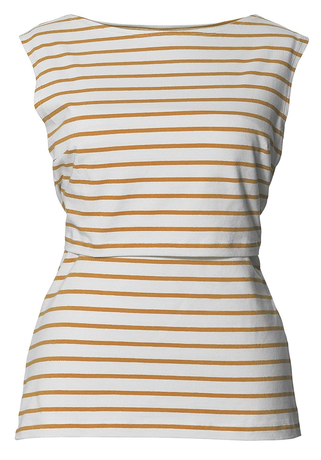 BOOB DESIGN Women's Striped Sleeveless Maternity Vest Top White Black White Stripe - - 6
