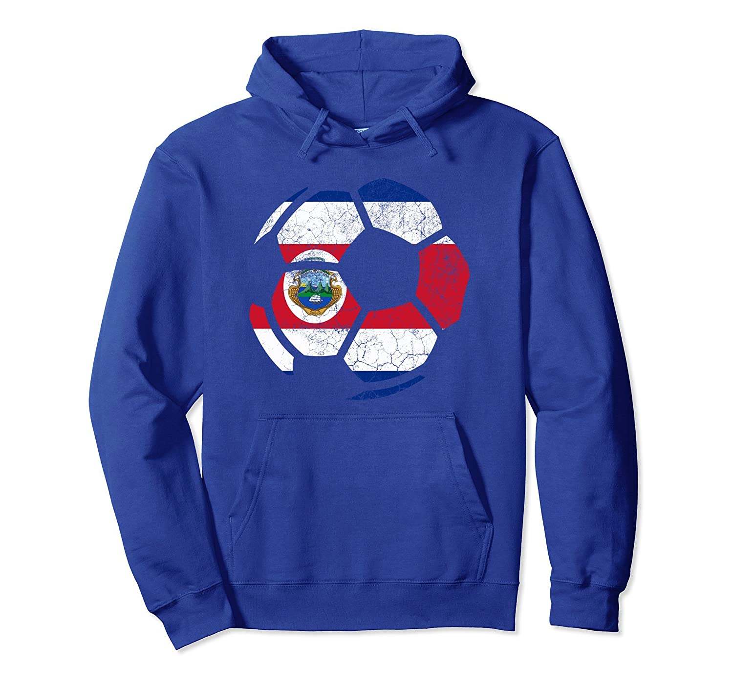 Costa Rica Soccer Hoodie Costa Rican Flag Football Gift-TH