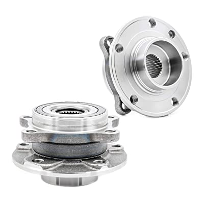 [2-Pack/Pair] 513348 FRONT Wheel Bearing and Hub Assembly Compatible With 2013-2016 Dodge Dart, 2015-2020 CHRY 200, [Cross Reference: TIMKEN HA590473, SKF BR930881] Premium Quality: Automotive