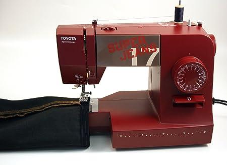 Toyota máquina de Coser, plástico, Rojo, 19,8 x 41 x 29,4 cm ...