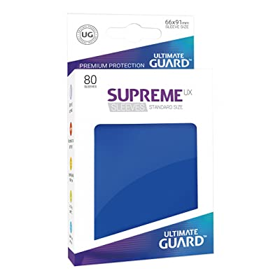 Supreme UX Card Sleeves (80 Piece), Blue, Standard Size: Toys & Games