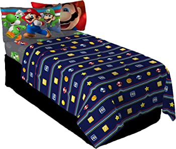3-Piece Nintendo Super Mario Trifecta Fun Twin Sheet Set