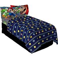 Nintendo Sheet Set, MA8638, Blue, red, Grey, Twin