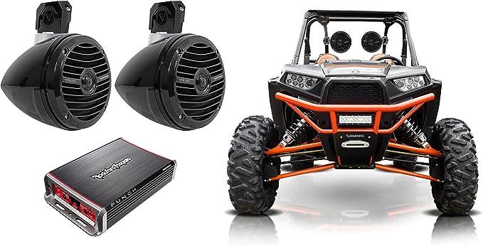 Kicker 42PXA300.4 300w 4-Channel Amp for Polaris//Motorcycle//ATV//UTV//RZR//Cart