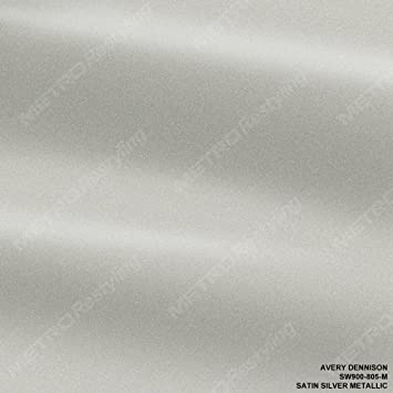 Avery Supreme SATIN SILVER METALLIC Vinyl Vehicle Car Wrap Film Roll SW900-805-M