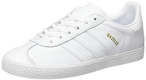 adidas Gazelle J, Zapatillas de Deporte Unisex niños, Blanco Ftwbla, 38 EU: Amazon.es: Zapatos y complementos