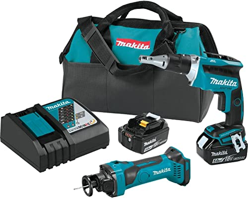 Makita XT255T 18V LXT Lithium-Ion Cordless 2-Pc. Combo Kit 5.0Ah
