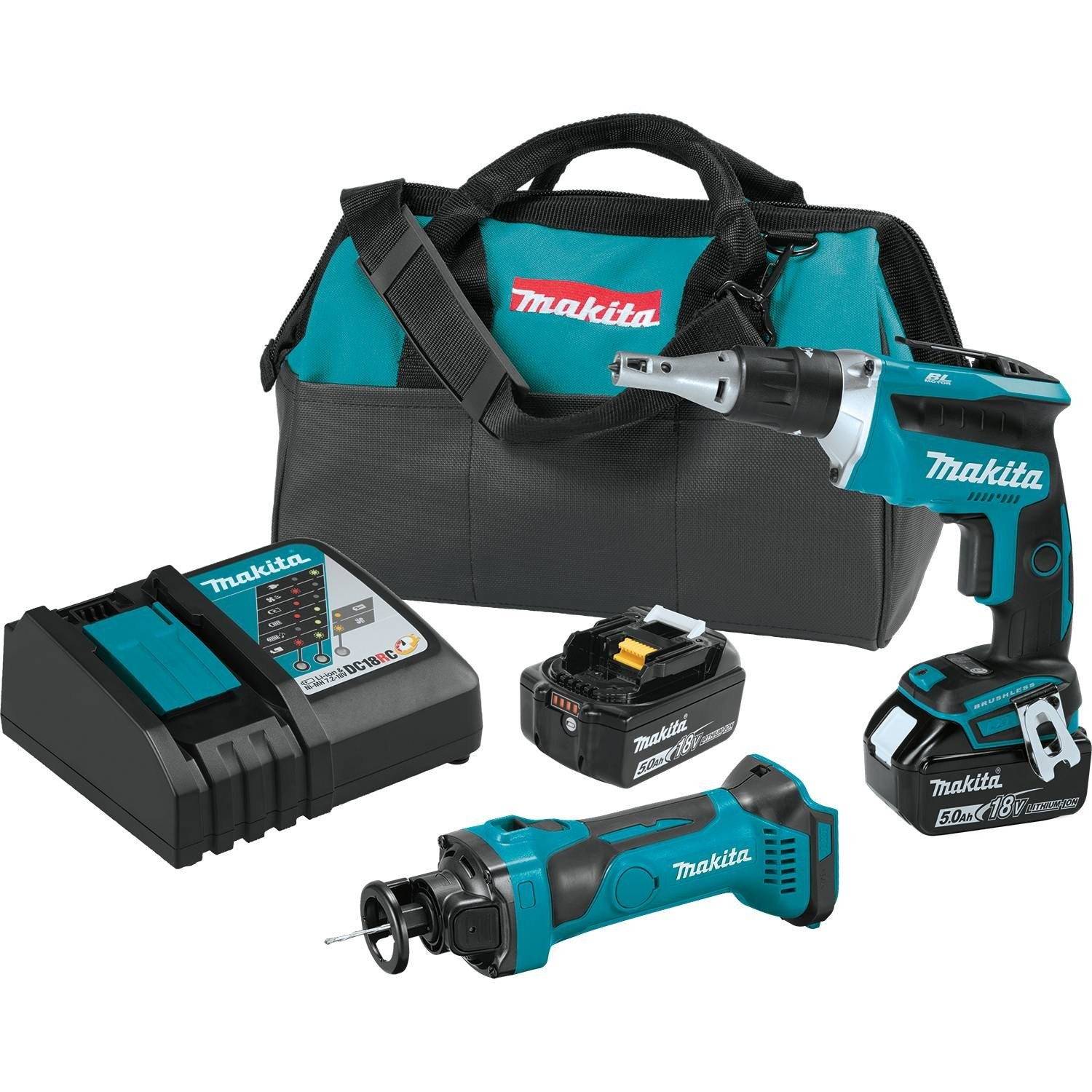 Makita XT255T 18V LXT Lithium-Ion Cordless 2-Pc. Combo Kit (5.0Ah)