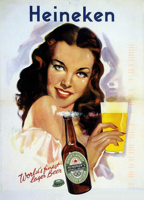 Sary buri Heineken - Placa de Metal Vintage, Retro, Estilo ...