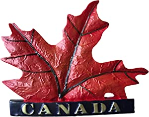 3D Maple Leaf Canada Souvenir Fridge Magnet,Home & Kitchen Decoration Canada Refrigerator Magnet