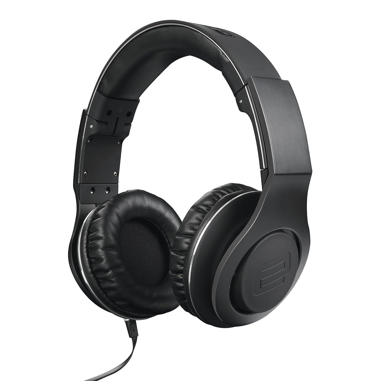 Reloop RHP-30-BLACK Professional DJ Headphones with Smartphone Control Retractable Closed, Black AMS-RHP-30-BLACK