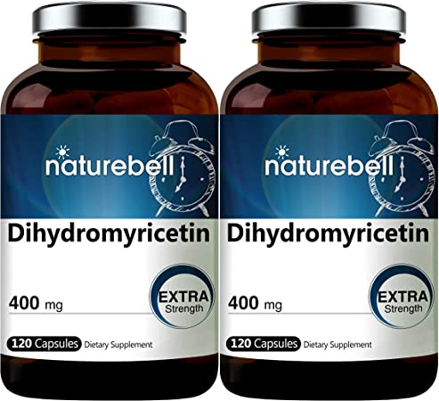 2 Pack NatureBell Dihydromyricetin DHM as Hovenia Dulcis Extract 400mg, 120 Capsules, Alcohol Consumption Support Supplement, No GMOs