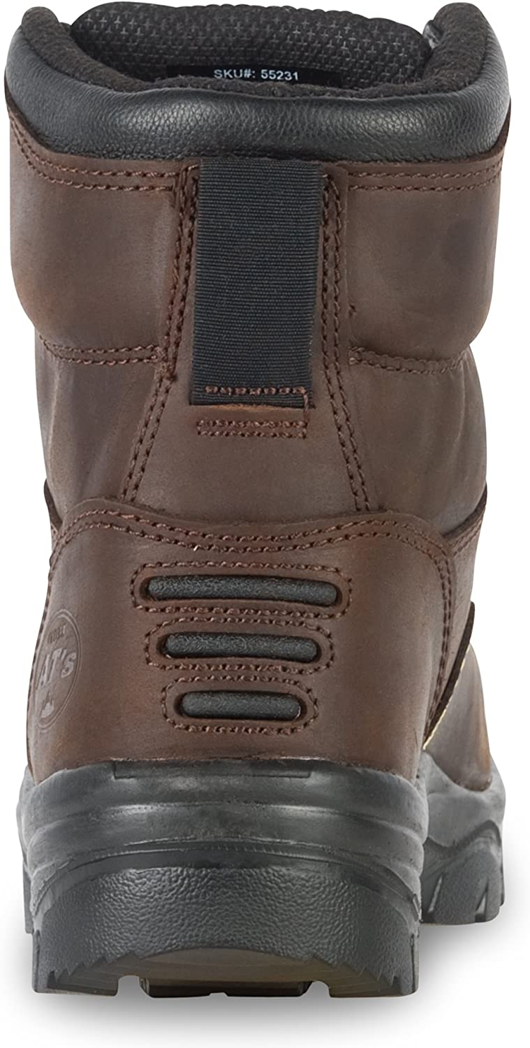 Oliver 55 Series 6 Leather Mens Steel Toe Work Boots 55231 Honeywell Safety Products USA 55231-BRN-095 Nubuck Brown