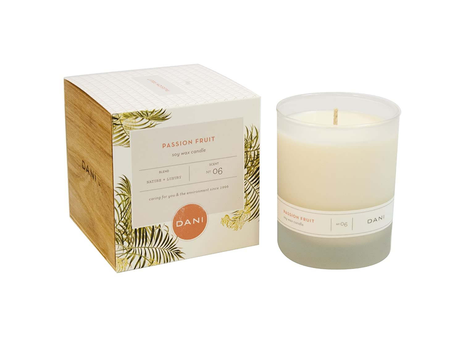 Amazon com dani 100 soy wax candle applewood moss 7 5 oz home kitchen