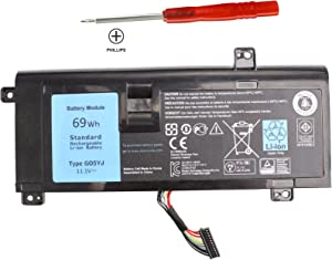 EBOYEE 11.1V 69WH G05YJ 8X70T Battery Compatible Dell Alienware 14 A14 M14X R3 R4 14D-1528 ALW14D ALW14D-5528 ALW14D-1528 14D-5528 0G05YJ ALW14D Y3PN0 Series Notebook PC 6cells Laptop Batteries