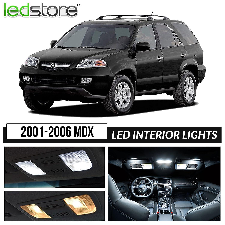 Amazon LEDstore 2001 2006 Acura MDX Interior LED Lights Package Kit White Automotive