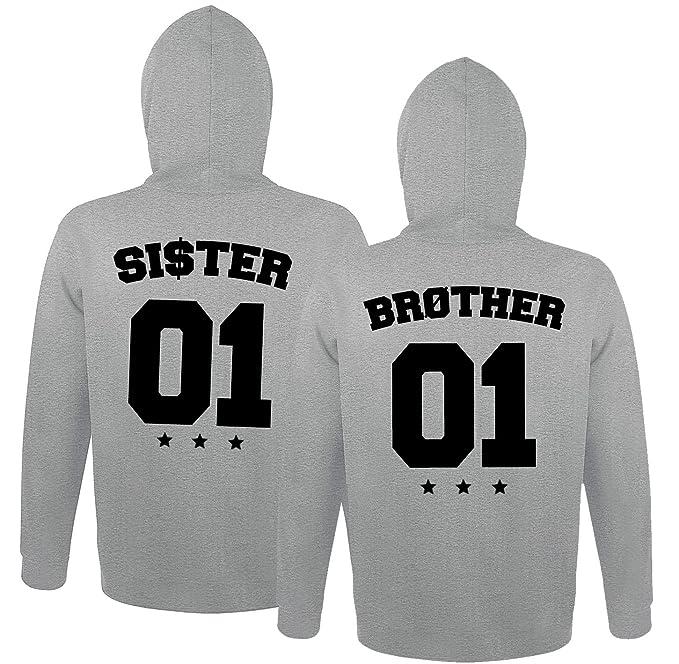 0da925447044 Partner Kapuzenpullover Brother    Sister Hoodie Bruder Schwester  Partnerlook