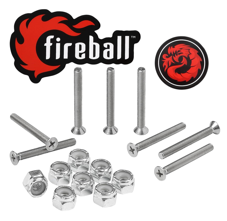FIREBALL Dragon Stainless Steel Skateboard Hardware Set
