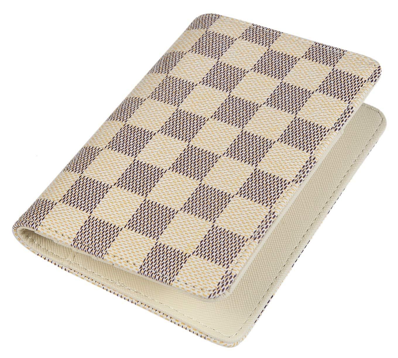 Daisy Rose Luxury Passport Holder Cover Case | PU Vegan Leather RFID Travel Organizer Card Holder (Cream)