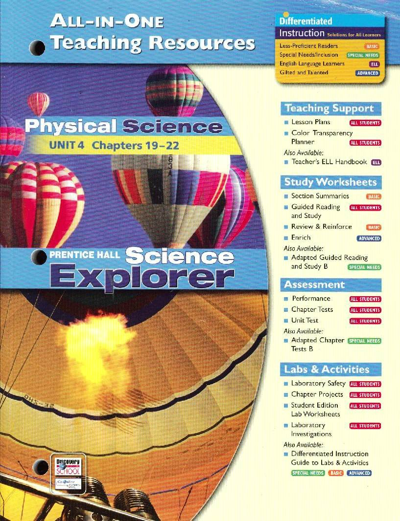 Science Explorer All-in-One Teaching Resources Physical Science Unit 4 Chapters 19-22 pdf epub