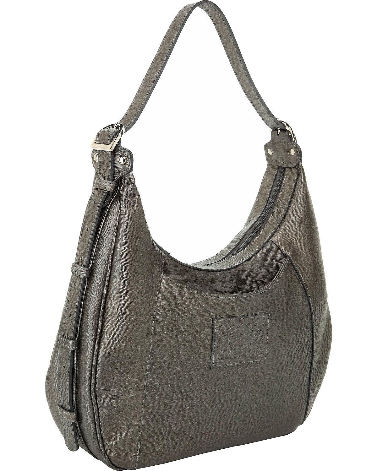 Designer Concealed Carry Women's Grey Santa Fe Hobo Bag Grey One Size