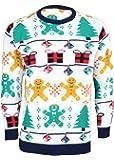 Noroze Hommes Unisexe Femmes Gingerbread man Pull en maille de Noël
