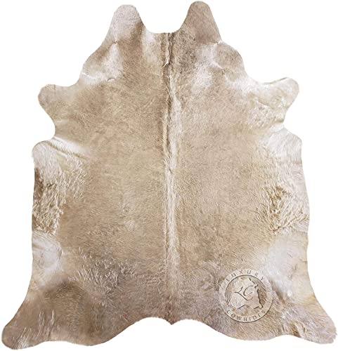 Taupe Cowhide Rug Approx Size 5ft x 7ft 150 cm x 210cm