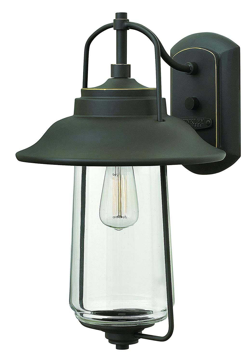 Amazon hinkley 2864oz transitional one light wall mount from amazon hinkley 2864oz transitional one light wall mount from belden place collection in bronzedarkfinish garden outdoor mozeypictures Images