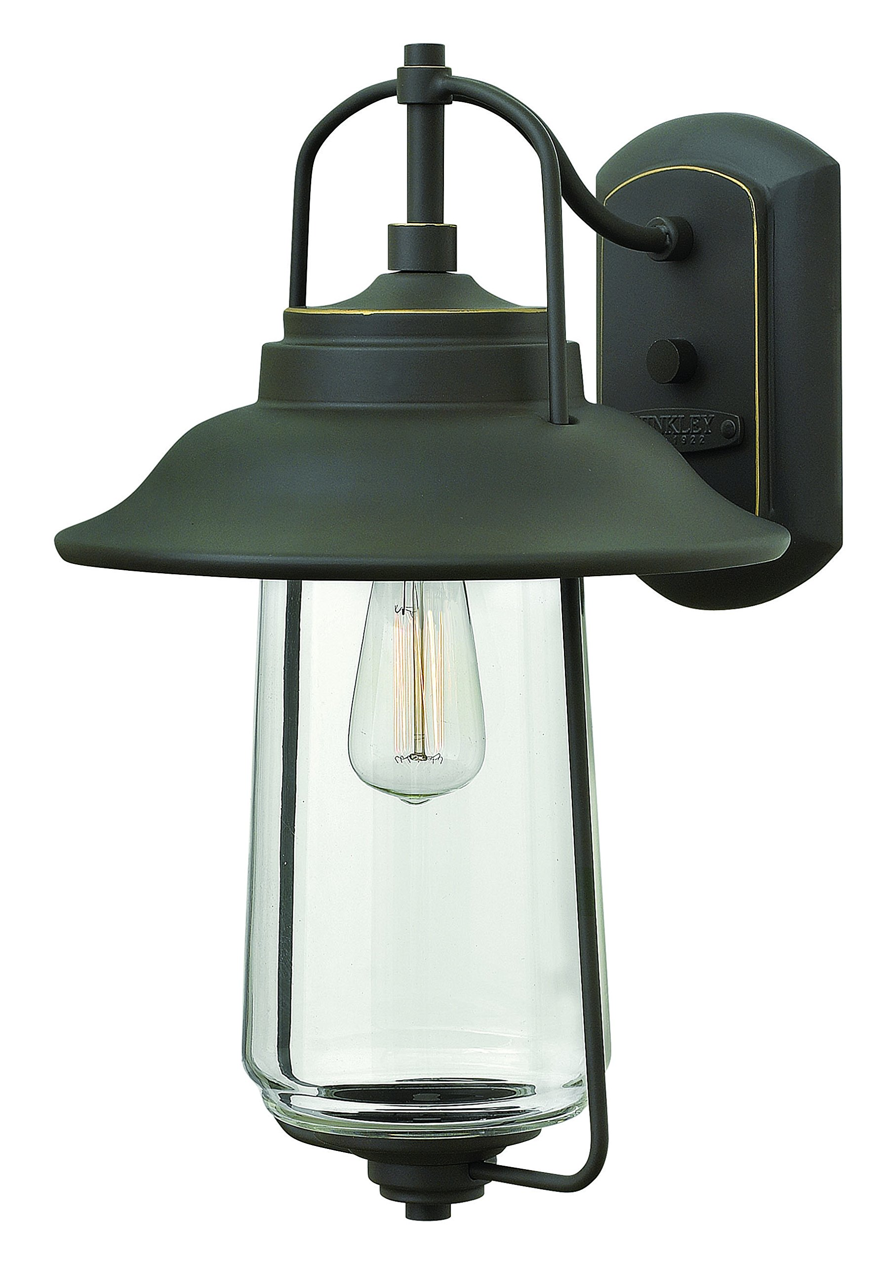 Hinkley 2864OZ Transitional One Light Wall Mount from Belden Place collection in Bronze/Darkfinish,