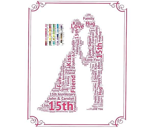 amazon com 15th anniversary gifts 15th wedding anniversary gift
