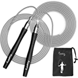 Jump Rope – Premium Quality Blazing Fast Speed Rope, Weighted Jump Rope –Tangle-Free, Screw-Free Adjustable Jumping Rope…