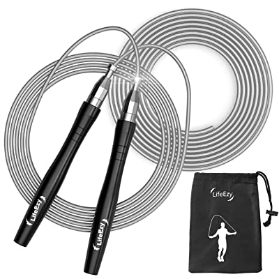 Jump Rope Crossfit Tangle-Free Adjustable Exercise for Fitness Speed Training
