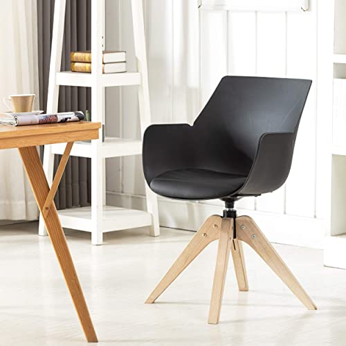KINWELL Swivel Armchair Contemporary Accent Chair Dining Chair