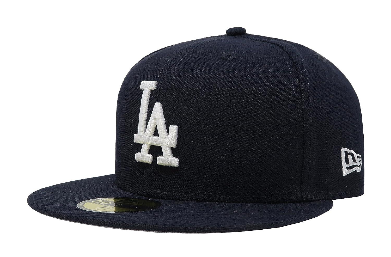 7c73956b59c Amazon.com  New Era 59Fifty MLB Basic Los Angeles Dodgers Navy Blue Fitted  Headwear Cap  Clothing