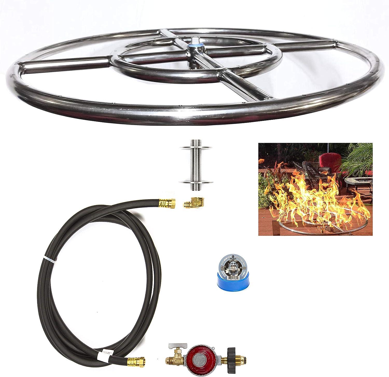 Amazon Com Easyfirepits Ck Kit Basic Diy Build Your Own Propane Fire Pit Kit W O Burner Ring Burner 12 00 Garden Outdoor