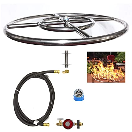 FR12CK: Complete 12u0026quot; BASIC Fire Pit Kit 316 Stainless Convert Existing  Wood Fire Pit