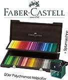 Faber-Castell 110013 - Holzkoffer mit 120 Polychromos Farbstiften Limited Set [ inkl. Spitzmaschine groß ]
