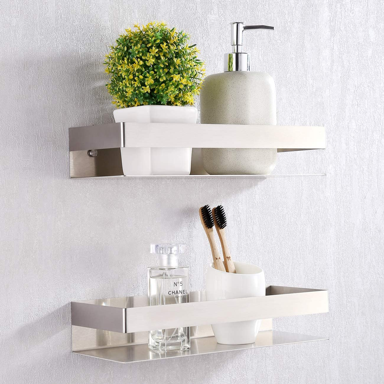 BSC205S30A-P2 KES Shower Caddy SUS 304 Stainless Steel Bathromm Basket Storage Shelf 2 Tier Hanging Organizer Wall Mount 30 CM or 11-Inch Polished Finish