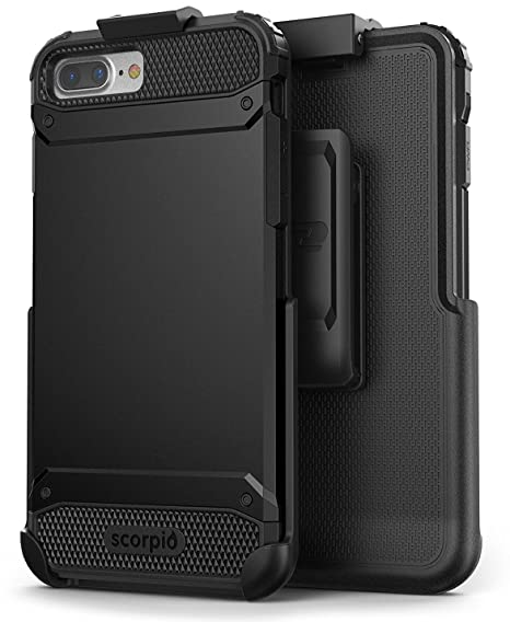 reputable site ea566 11cdc Encased UE Armor iPhone 8 Plus Belt Case Holster Clip (w/Screen Protector)  Dual Layer Protective Combo - Compatible with Apple iPhone 8 Plus 5.5inch  ...