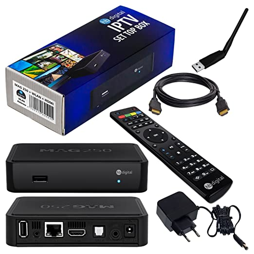 197 opinioni per MAG 250 Original HB-DIGITAL IPTV SET TOP BOX Multimedia Player Internet TV IP