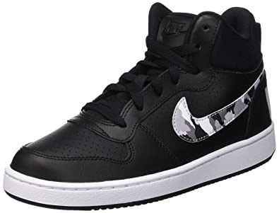 679fe4514ac9e Amazon.com | Nike Court Borough Mid Black/Multi-Color (GS) | Basketball