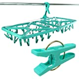 Hangerworld Large 42 Peg Plastic Clothes Indoor Airer - Foldable Sock or Underwear Dryer