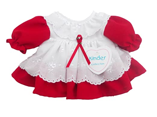 ee75c59c7 BNWT baby girls premature clothes red and white kinder dress Made in ...