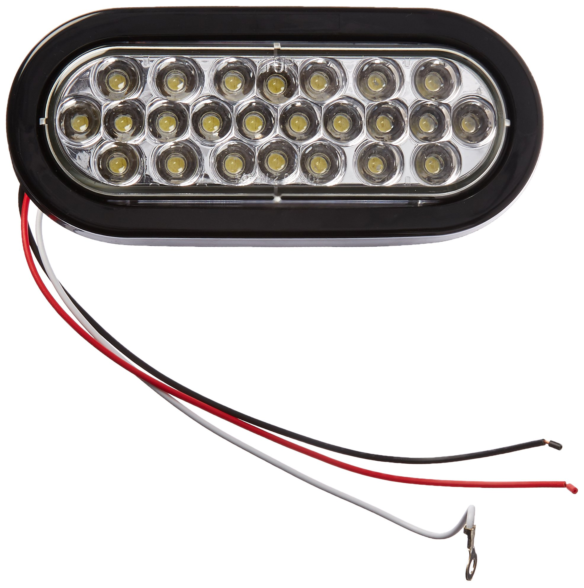 Buyers Products 6'' Oval LED Recessed Strobe Light, Clear